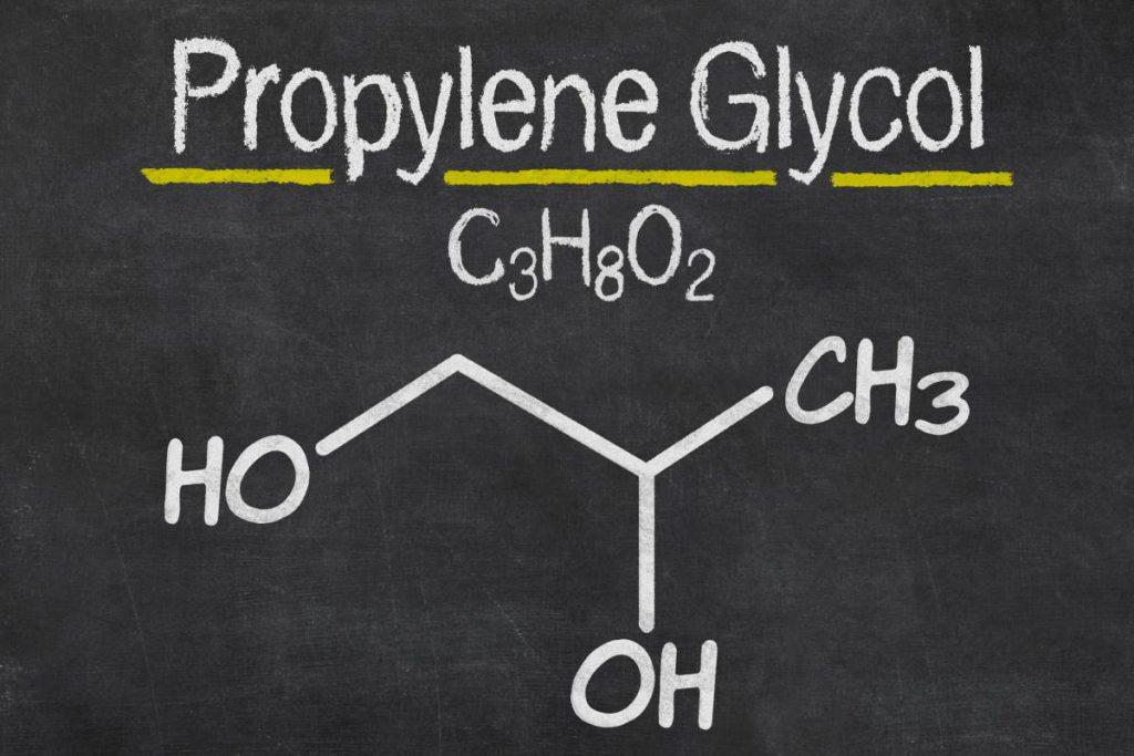 Le Propylène Glycol symbole chimique